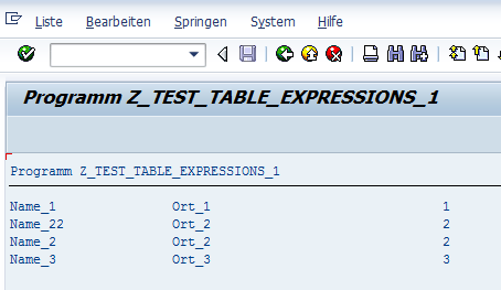 Table Expression Beispiel