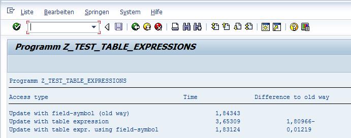 Table Expressions Laufzeitvergleich