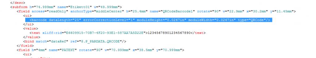 Größe des QR Codes ändern